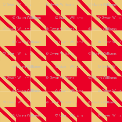 camel red houndstooth