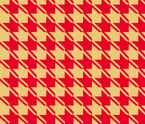 camel red houndstooth large fabric by mojiarts on Spoonflower - custom fabric