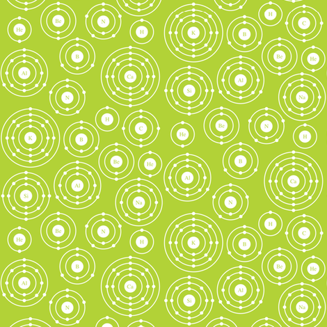 Periodic Shells (Green Ditsy) fabric by robyriker on Spoonflower - custom fabric