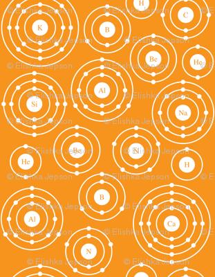 Periodic Shells (Orange Ditsy)