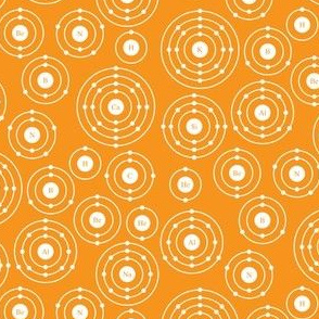 Periodic Shells (Orange Ditsy)