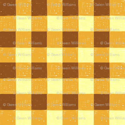 brown carmel gingham