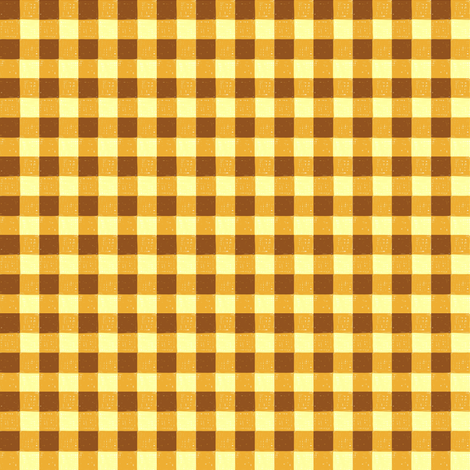 brown carmel gingham fabric by mojiarts on Spoonflower - custom fabric