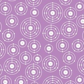 Periodic Shells (Purple Ditsy)