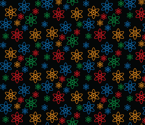 Atomic Orbits (Black) fabric by robyriker on Spoonflower - custom fabric