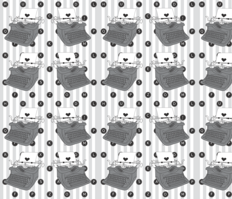typepattern fabric by greenpistachio on Spoonflower - custom fabric