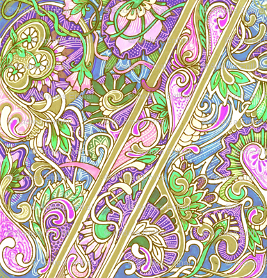 Pastel Paisley on Parade