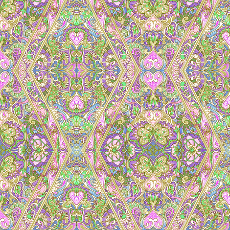 Pastel Paisley on Parade fabric by edsel2084 on Spoonflower - custom fabric