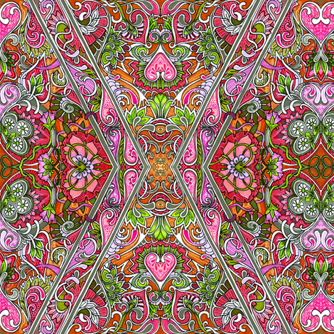 Summer Love Affair fabric by edsel2084 on Spoonflower - custom fabric