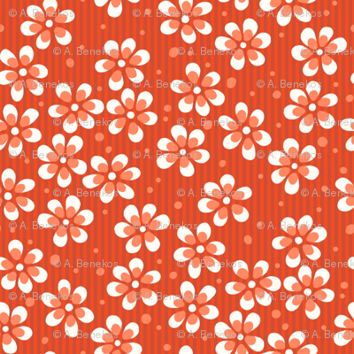 Moss Garden Flowers - Orange