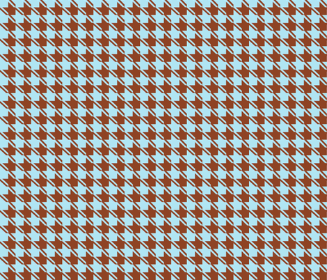 baby blue chocolate houndstooth fabric by mojiarts on Spoonflower - custom fabric