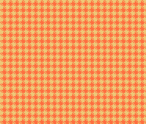 camel orange houndstooth fabric by mojiarts on Spoonflower - custom fabric
