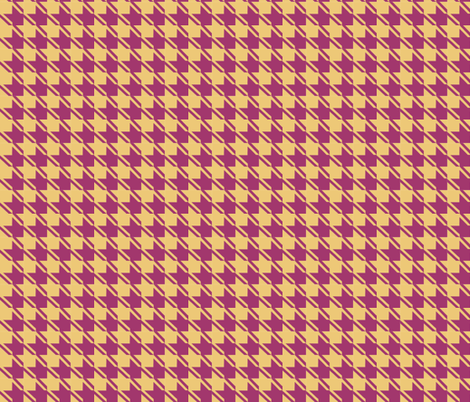 camel plum houndstooth fabric by mojiarts on Spoonflower - custom fabric