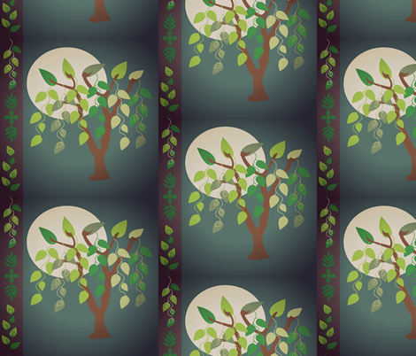 willow-tree-greens-moon fabric by amy_frances_designs on Spoonflower - custom fabric