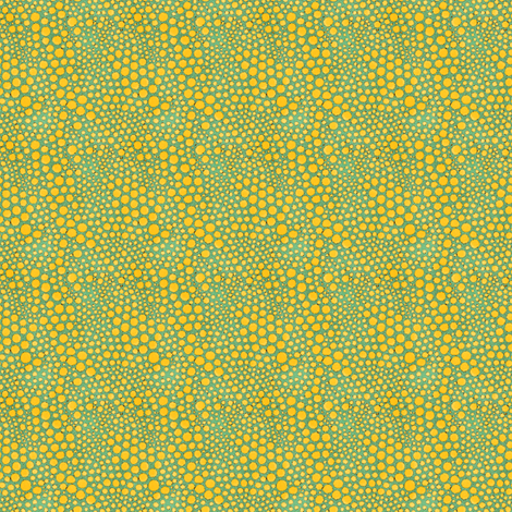 Dot Crowd: Aqua and Yellow