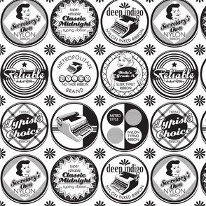 Old Style Typewriter Ribbon Tins