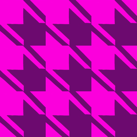 shocking pink purple houndstooth large fabric by mojiarts on Spoonflower - custom fabric