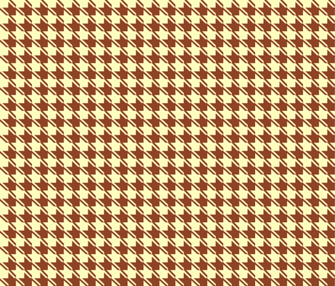 yellow chocolate houndstooth fabric by mojiarts on Spoonflower - custom fabric