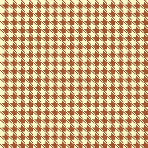 yellow chocolate houndstooth
