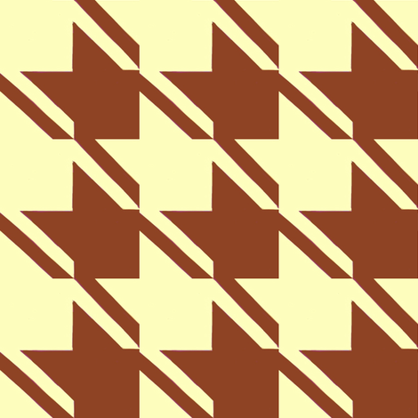 yellow chocolate houndstooth large fabric by mojiarts on Spoonflower - custom fabric