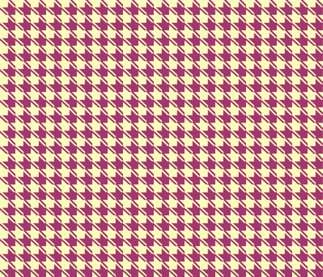 yellow plum houndstooth fabric by mojiarts on Spoonflower - custom fabric