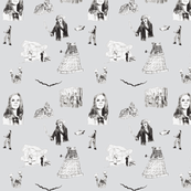 Doctor Who Toile - bg gray
