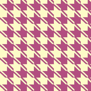 yellow plum houndstooth large