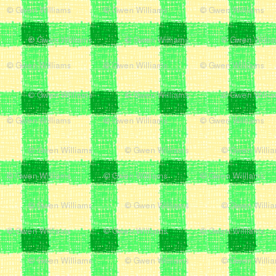 spring green rough checks