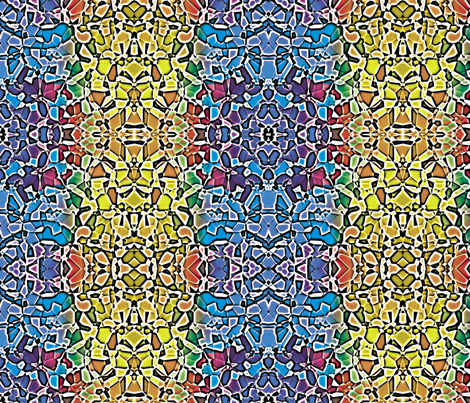 Fractured Colors 9 fabric by animotaxis on Spoonflower - custom fabric