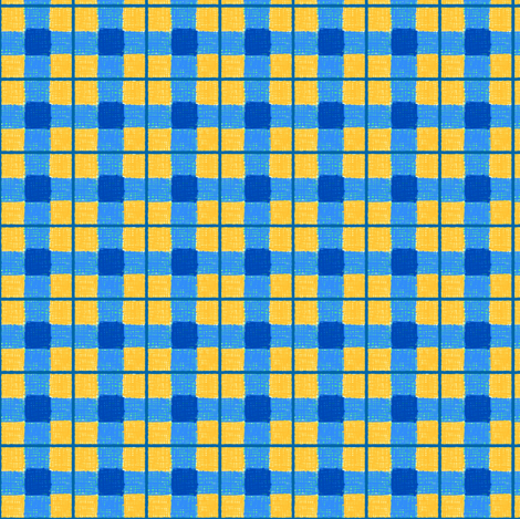 blue gold rough plaid fabric by mojiarts on Spoonflower - custom fabric