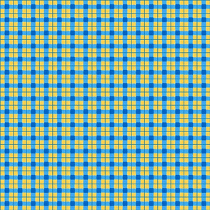 blue gold rough plaid