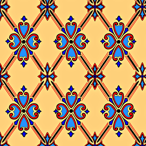 Formal Diamond fabric by elarnia on Spoonflower - custom fabric