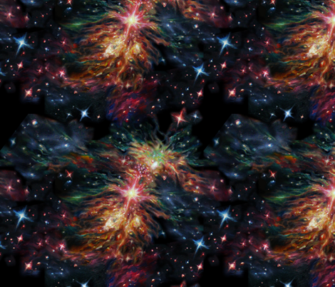 Galaxy fabric by artistandrea on Spoonflower - custom fabric