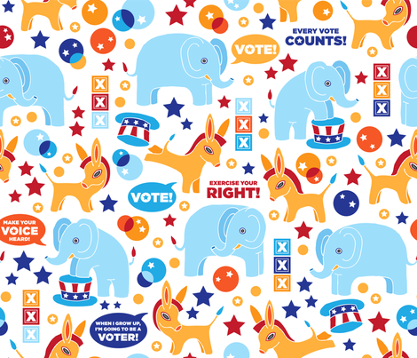 Baby's First Civic Duty Fabric fabric by sammyk on Spoonflower - custom fabric