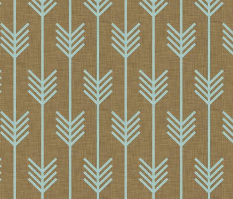 mint_arrow fabric by holli_zollinger on Spoonflower - custom fabric