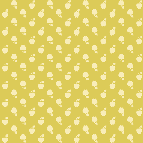 Polka_Apples_green fabric by natasha_k_ on Spoonflower - custom fabric