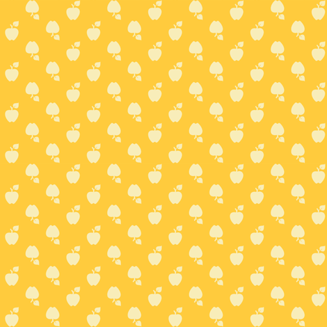 Polka_Apples_yellow fabric by natasha_k_ on Spoonflower - custom fabric