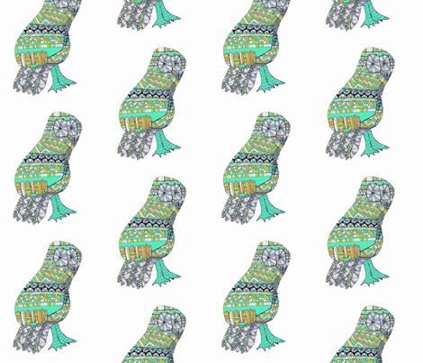 Mr. Owl fabric by last_evening_lark on Spoonflower - custom fabric