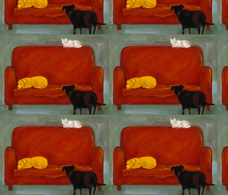 pets at home fabric by juliannjones on Spoonflower - custom fabric