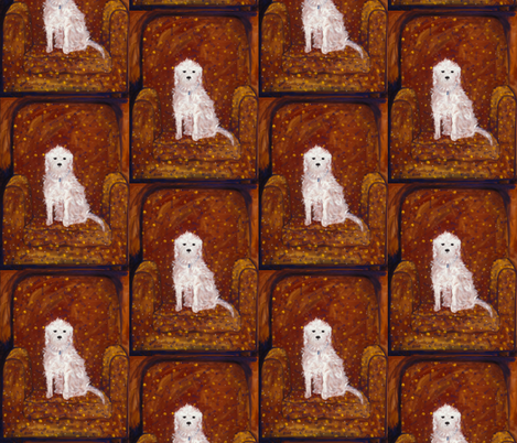 dog at home fabric by juliannjones on Spoonflower - custom fabric