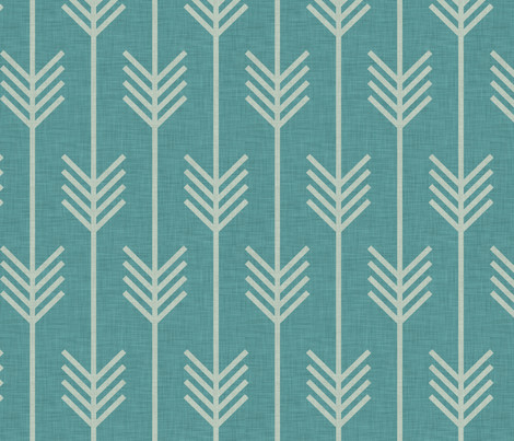 arrow_marine fabric by holli_zollinger on Spoonflower - custom fabric
