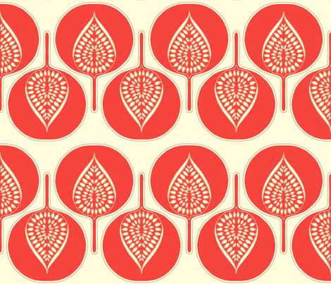 tree_hearts_coral fabric by holli_zollinger on Spoonflower - custom fabric