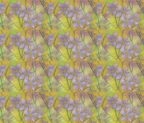 violets fabric by juliannjones on Spoonflower - custom fabric