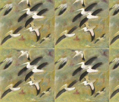 pelicans fabric by juliannjones on Spoonflower - custom fabric