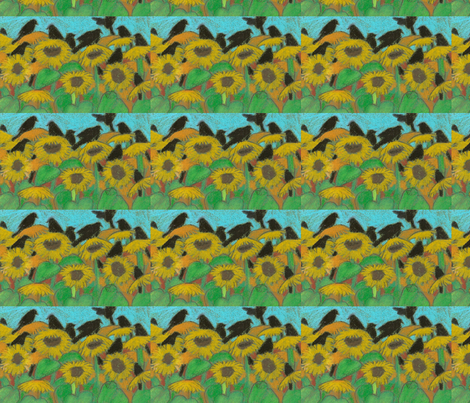 crows fabric by juliannjones on Spoonflower - custom fabric