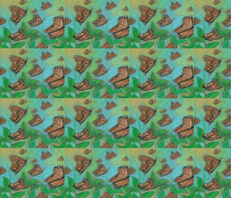 migrating monarchs fabric by juliannjones on Spoonflower - custom fabric