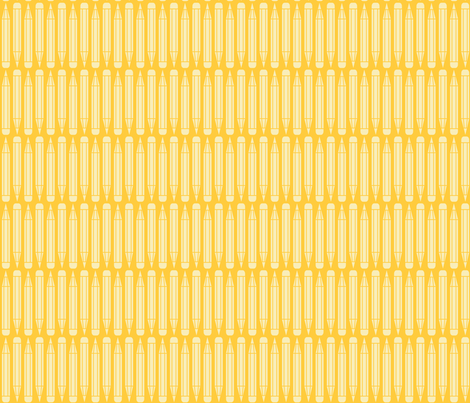 just_pencils_yellow fabric by natasha_k_ on Spoonflower - custom fabric