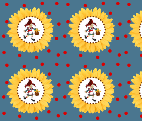 susie sunflower fabric by paragonstudios on Spoonflower - custom fabric