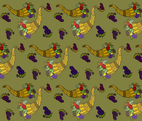 HORNS OF PLENTY fabric by bluevelvet on Spoonflower - custom fabric