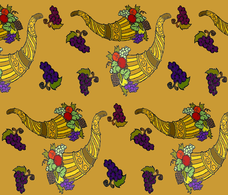 FALL HORNS OF PLENTY fabric by bluevelvet on Spoonflower - custom fabric